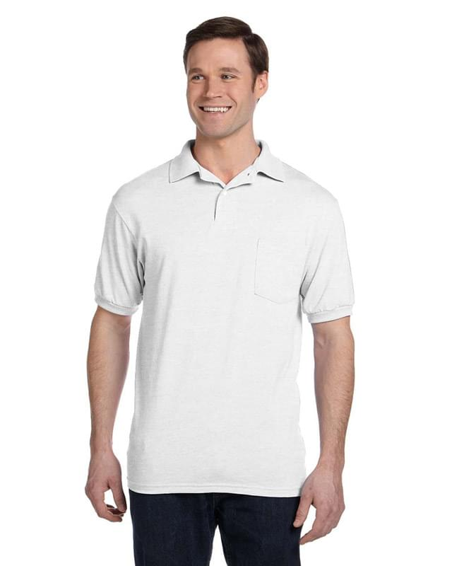 Adult 5.2 oz., 50/50 EcoSmart� Jersey Pocket Polo