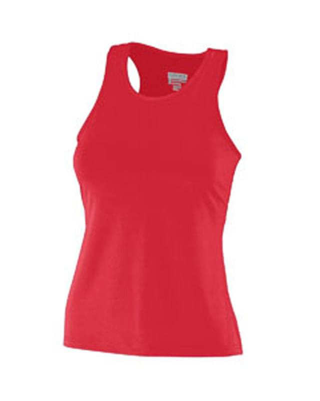 Girls Polyestyer Spandex Racer Tank