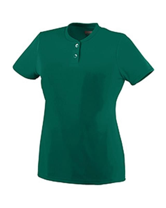 Ladies' Wicking Two-Button Jersey