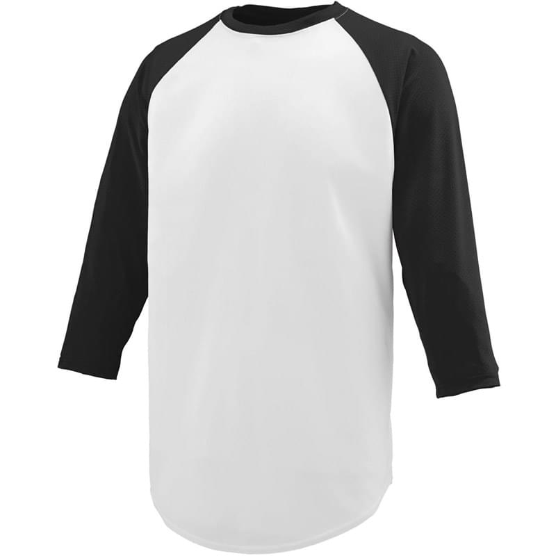 Adult Wicking Polyester 3/4 Raglan Sleeve T-Shirt