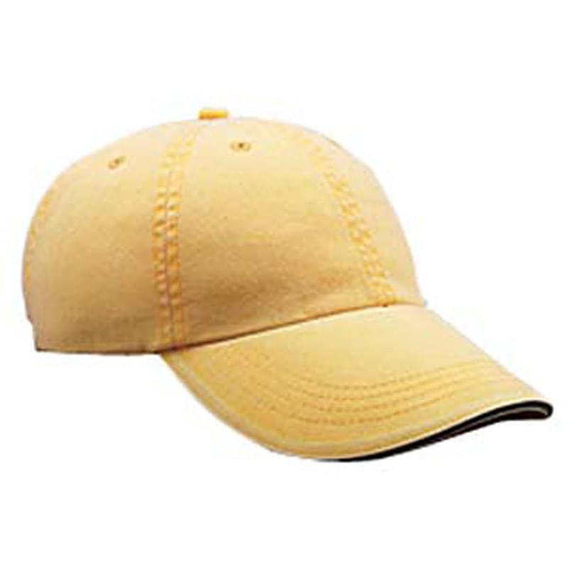 Adult Solid Low-Profile Sandwich Trim Twill Cap