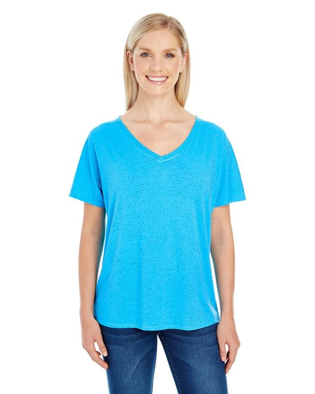 Ladies' Triblend Fleck Short-Sleeve V-Neck T-Shirt