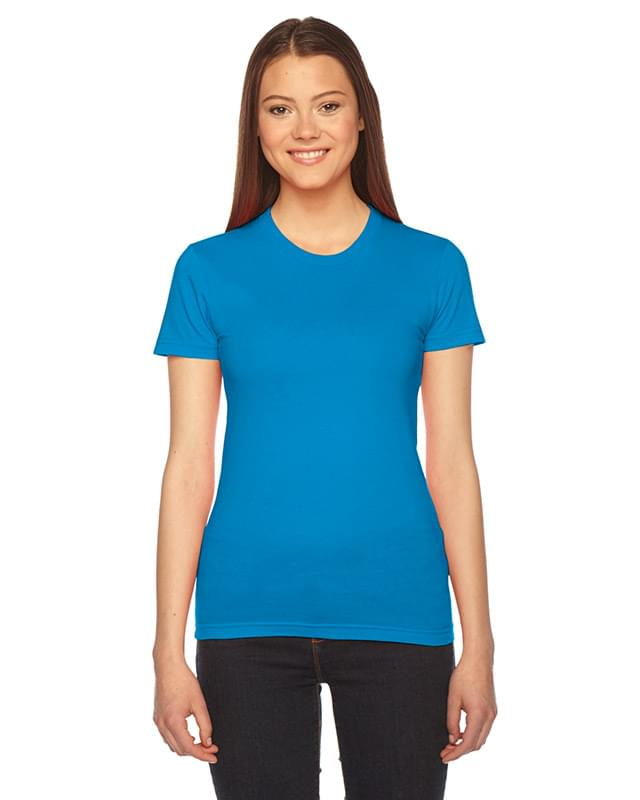 Ladies' Fine Jersey USA Made Short-Sleeve T-Shirt