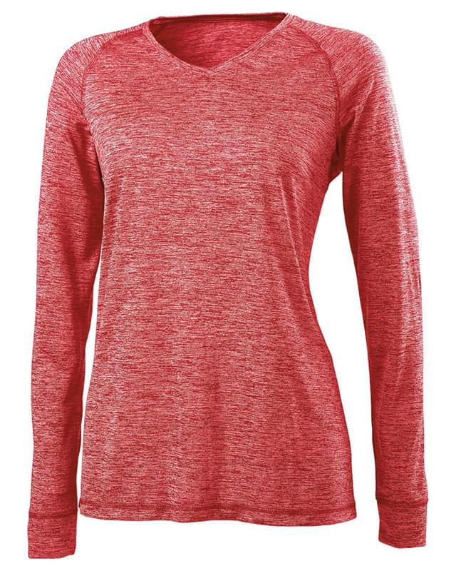 Ladies' Dry-Excel Electrify 2.0 Performance V-Neck Long-Sleeve Training Top