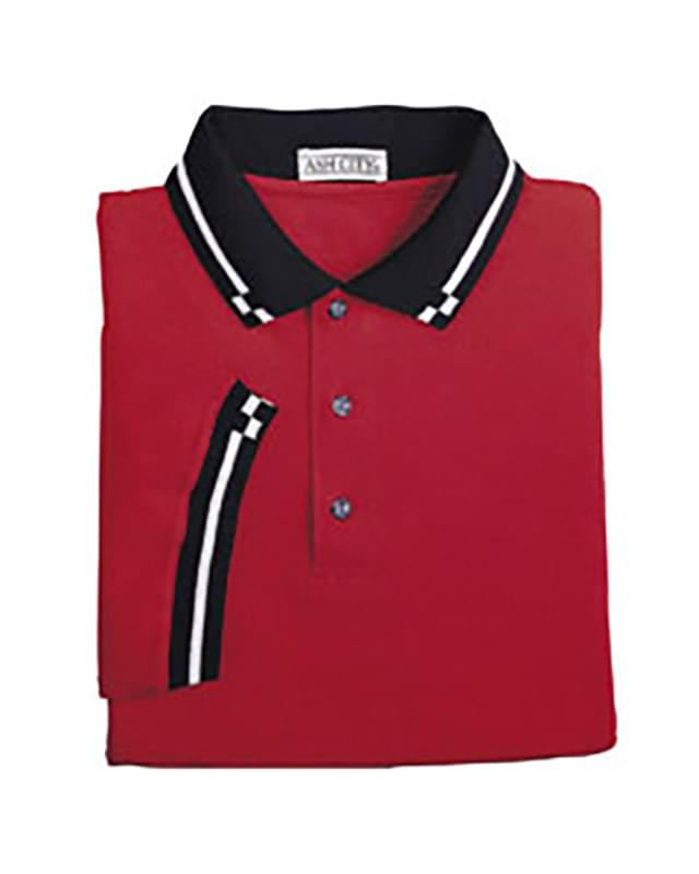 Men's Mini Checker Trim Jersey Polo