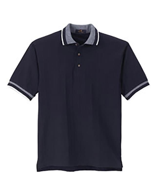 Men's Ribbon Pique Polo
