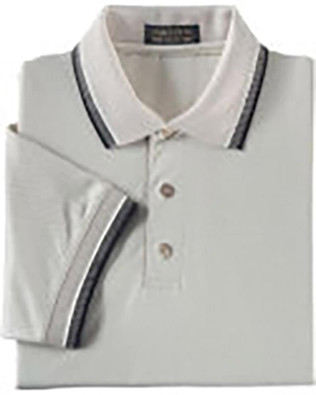 MEN'S TRI-COLOUR BIRDSEYE TRIM COTTON PIQUE POLO