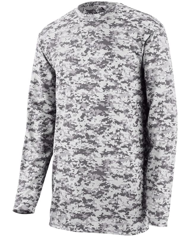 Adult Digi Camo Wicking Long-Sleeve T-Shirt