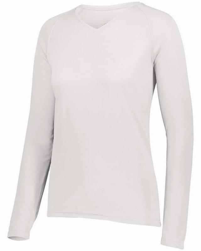 Ladies' Attain Wicking Long-Sleeve T-Shirt