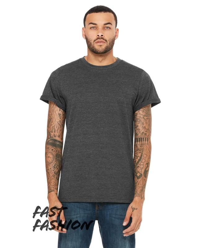Fast Fashion Unisex Jersey Rolled Cuff T-Shirt