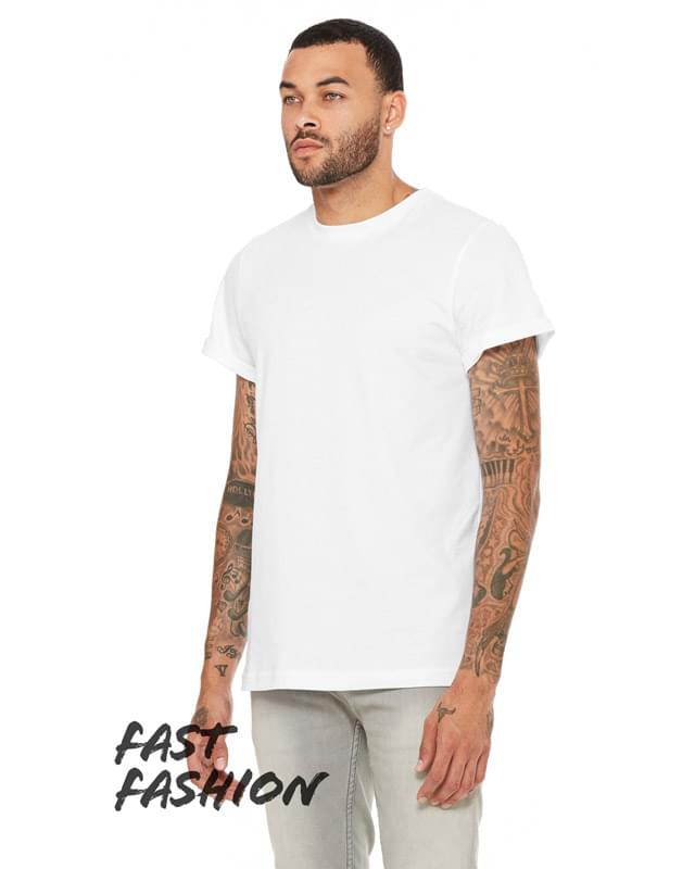 FWD Fashion Unisex Jersey Rolled Cuff T-Shirt