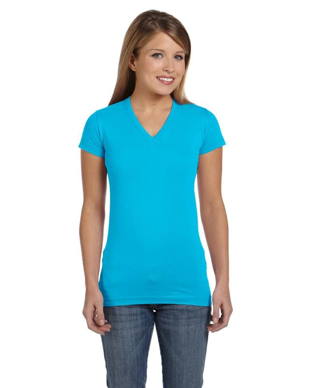 Ladies' Junior Fit V-Neck T-Shirt