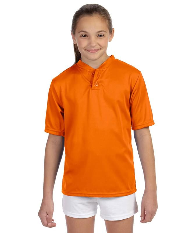 Youth Wicking Two-Button Jersey