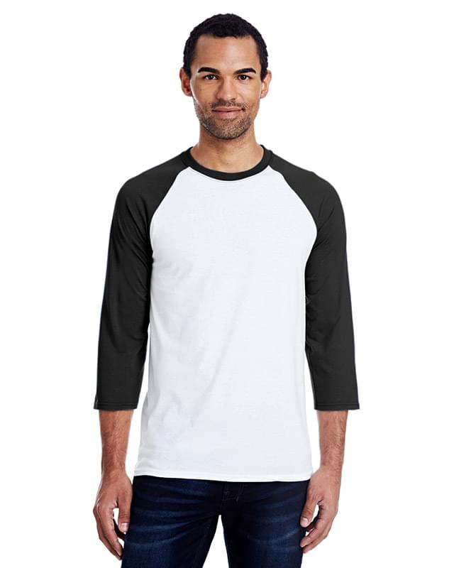 Men's 4.5 oz., 60/40 Ringspun Cotton/Polyester X-Temp Baseball T-Shirt