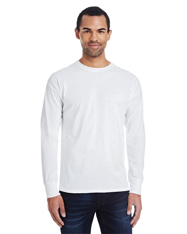 Men's 4.5 oz., 60/40 Ringspun Cotton/Polyester X-Temp? Long-Sleeve T-Shirt
