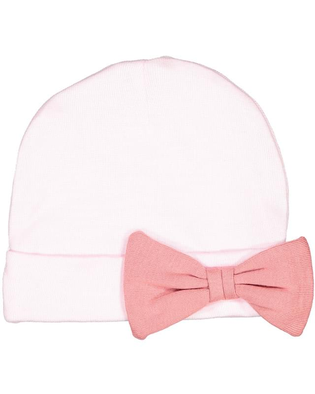 Infant Baby Rib Bow Cap