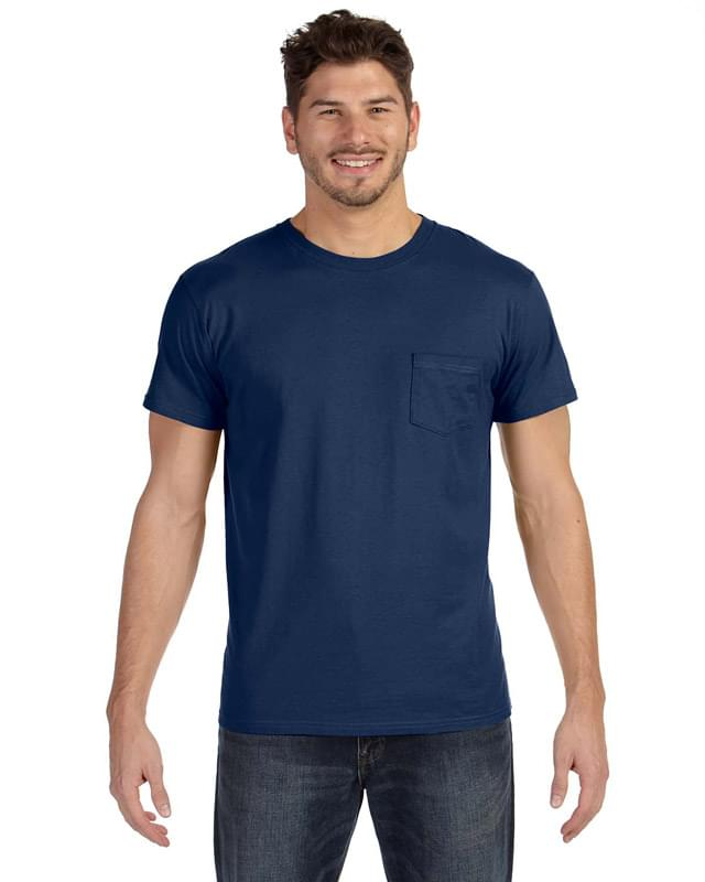 Adult 4.5 oz., 100% Ringspun Cotton nano-T T-Shirt with Pocket