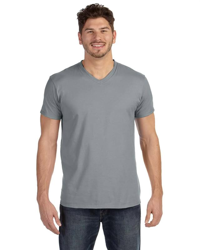 Adult 4.5 oz., 100% Ringspun Cotton nano-T V-Neck T-Shirt