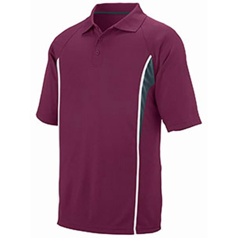Adult Wicking Polyester Mesh Sport Shirt with Contrast Inserts