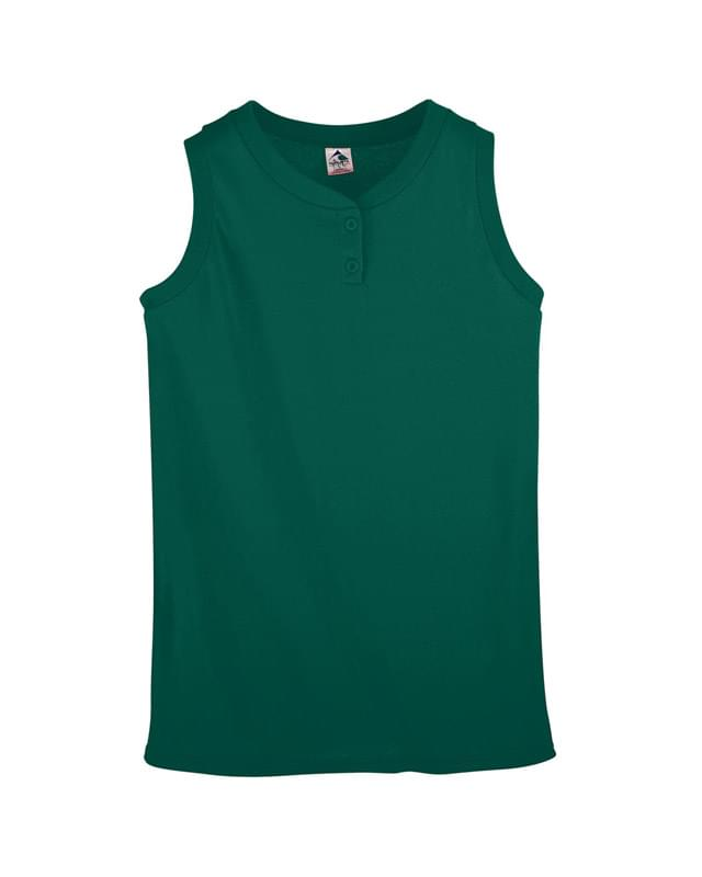 Ladies' Sleeveless Two-Button Softball Jersey