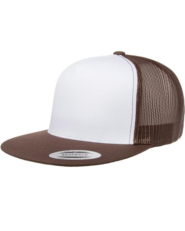 Adult Classic Trucker with White Front Panel Cap