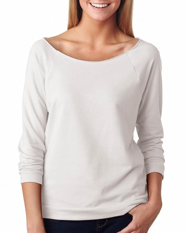 Ladies' French Terry 3/4-Sleeve Raglan