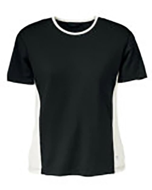 Ladies' Polyester Spandex Color Block Top