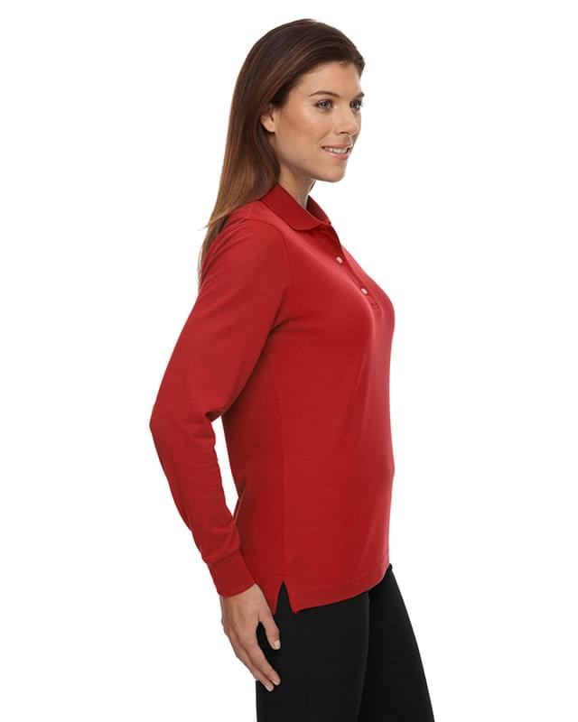 Ladies' Piqu Long-Sleeve Polo with Teflon