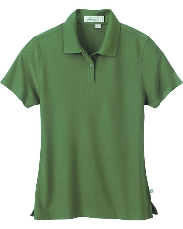 Ladies' Bamboo Rayon Recycled Polyester Jacquard Polo