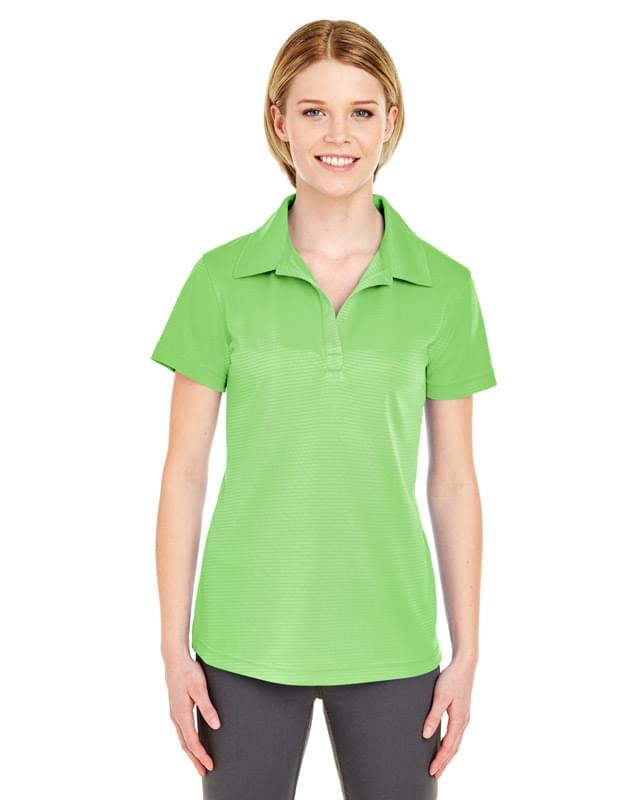 Ladies' Cool & Dry Jacquard Stripe Polo