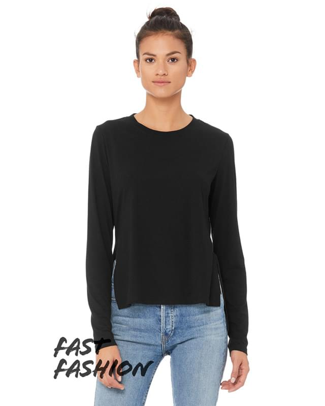 FWD Fashion Ladies' Side Slit Long-Sleeve T-Shirt