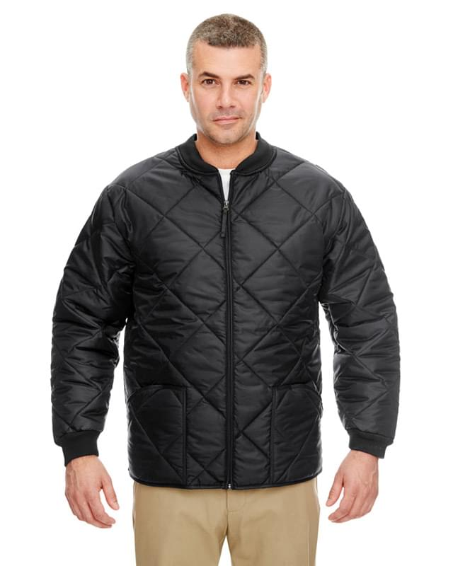 Adult Puffy Workwear Jacket with Quilted Lining