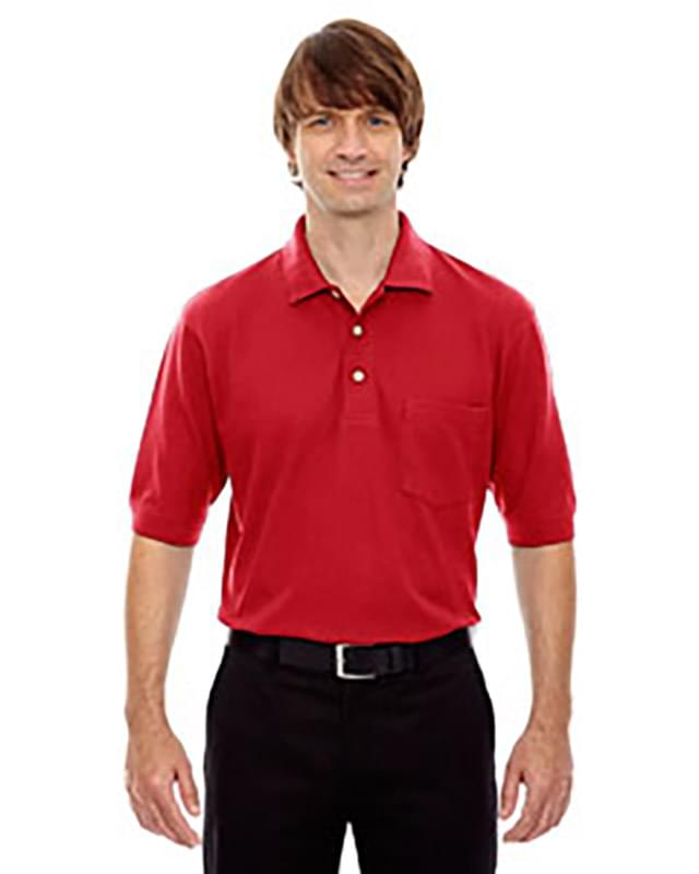 Men's Cotton Blend Piqu Polo with Pocket