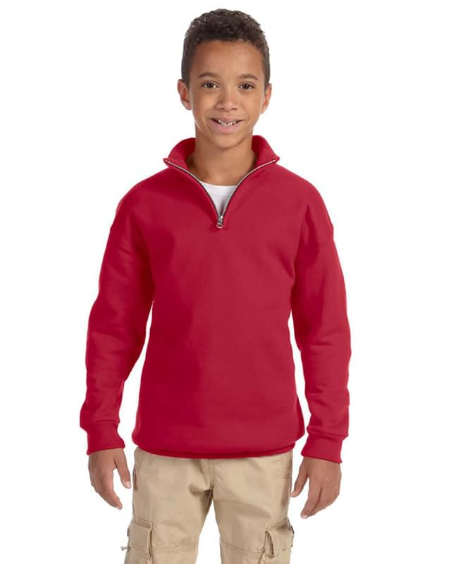 Youth 8 oz. NuBlend Quarter-Zip Cadet Collar Sweatshirt