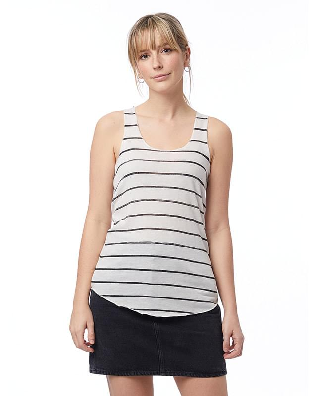 Ladies' Meegs Printed Racerback Eco-Jersey Tank