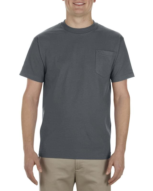 Adult 6.0 oz., 100% Cotton Pocket T-Shirt