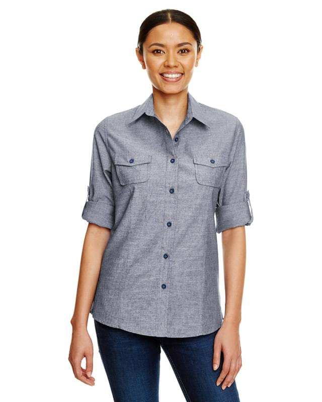 Ladies Chambray Woven Shirt