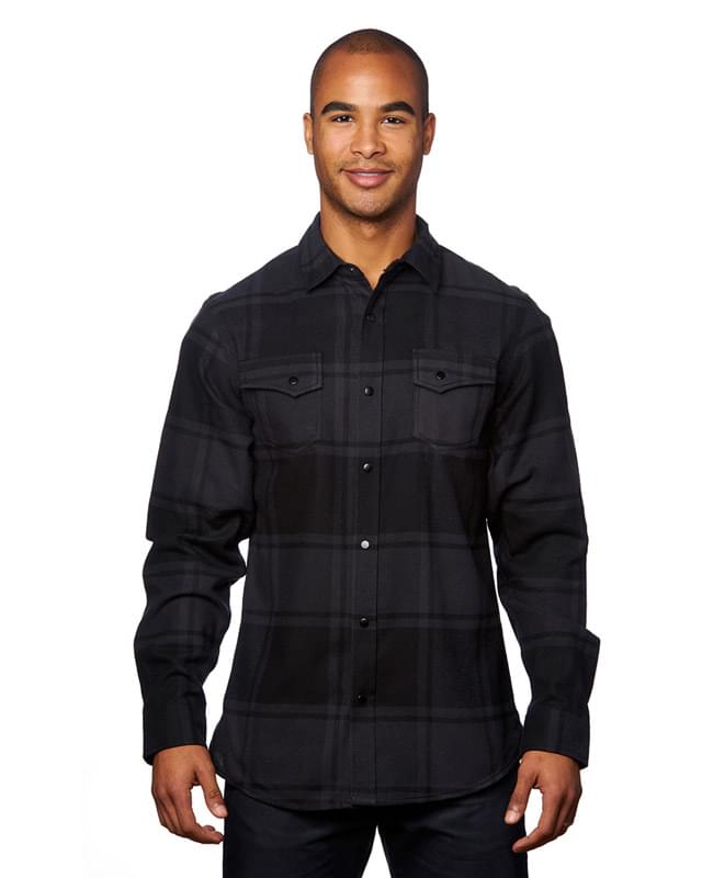 Men's Snap-Front Flannel Shirt