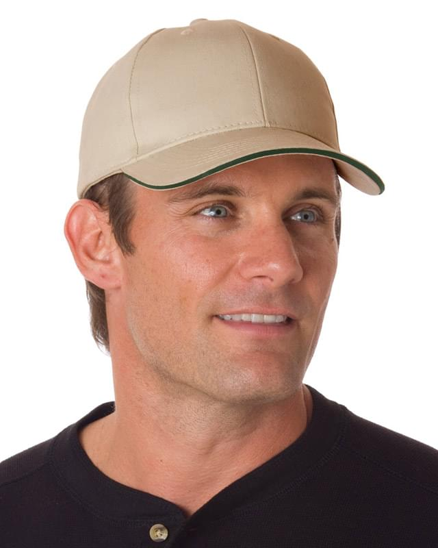 100% Brushed Cotton Twill Structured Sandwich Cap