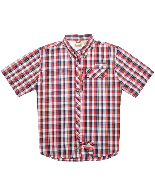 Men's Tall Sport Utility Short-Sleeve Plaid Shirt