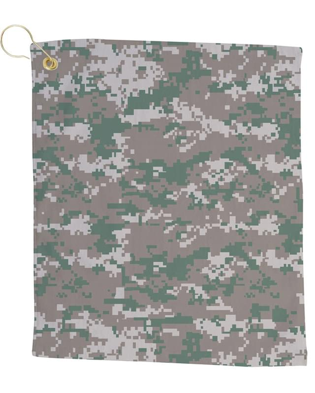 Small Camo Golf Towel