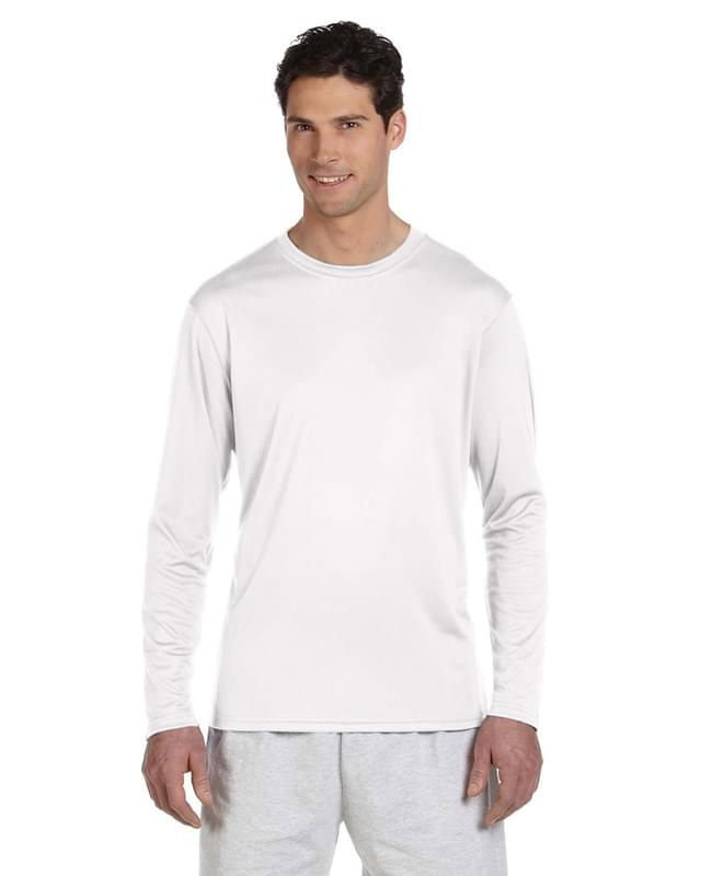 Adult 4.1 oz. Double Dry Long-Sleeve Interlock T-Shirt