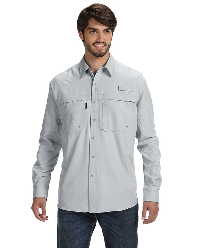 Men's 100% polyester Long-Sleeve Fishing Shirt