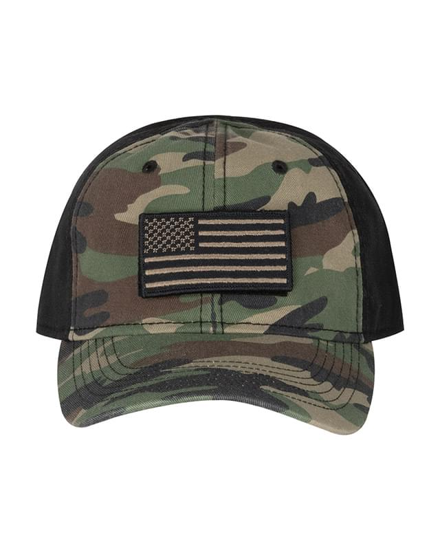 100% Cotton Unstructured Camo Hat