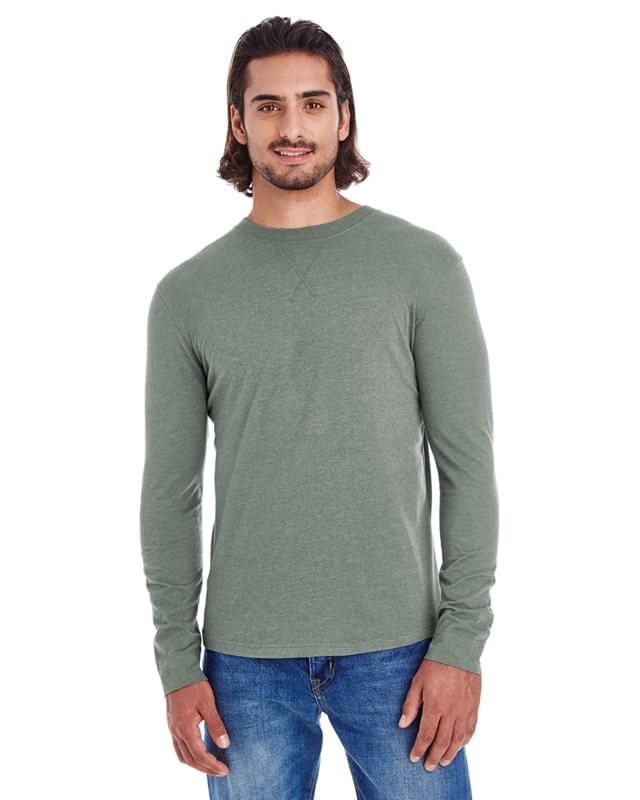 Men's Heather Sueded Long-Sleeve Jersey