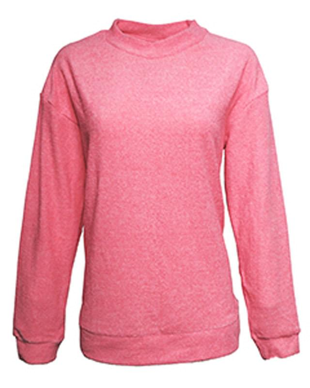Ladies' Weekend French Terry Mock Neck Crew