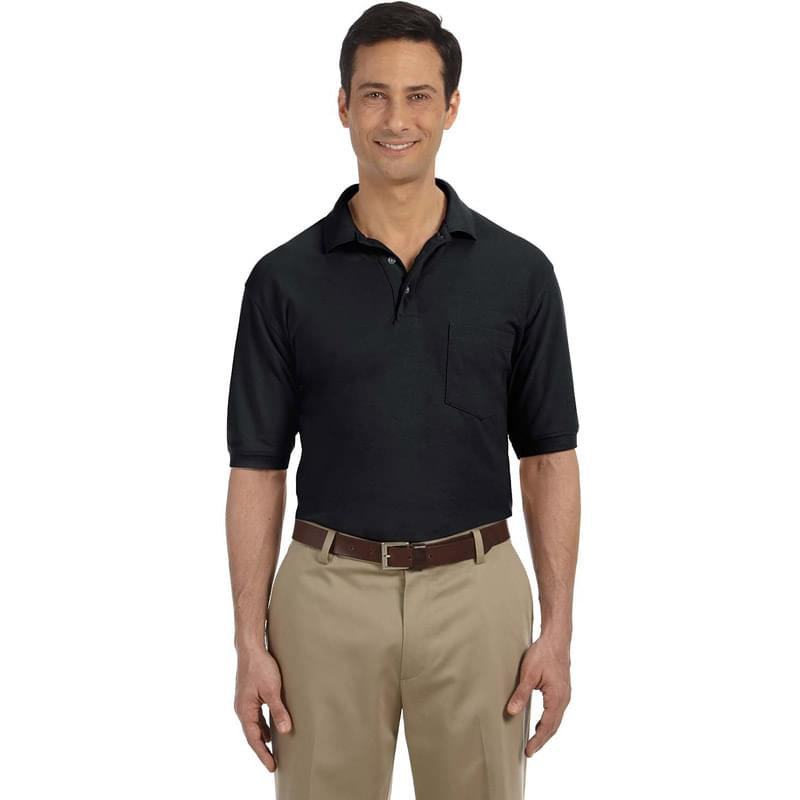 Men's 5.6 oz. Easy Blend Polo withPocket