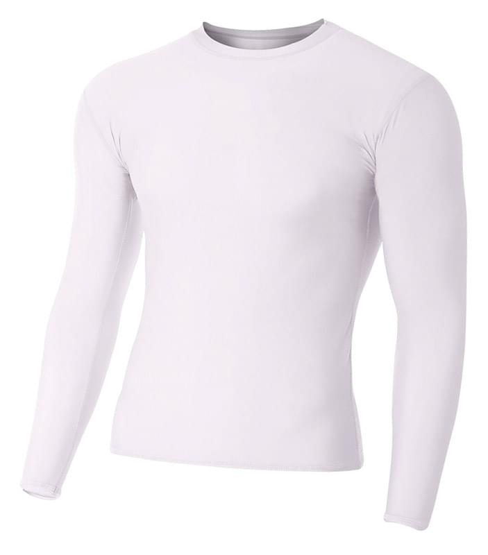 Adult Polyester Spandex Long Sleeve Compression T-Shirt