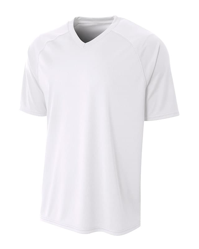 Adult Polyester V-Neck Strike Jersey with Contrast Sleeve