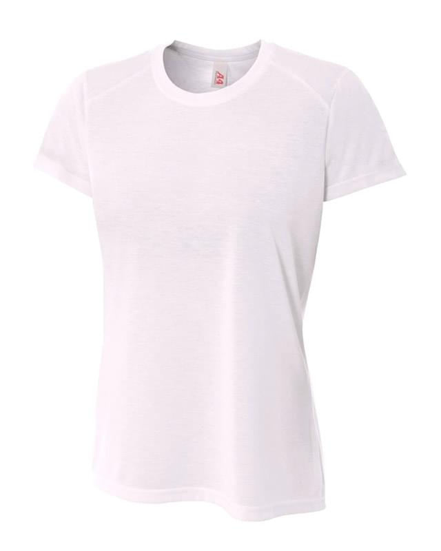 Ladies' Shorts Sleeve Spun Poly T-Shirt